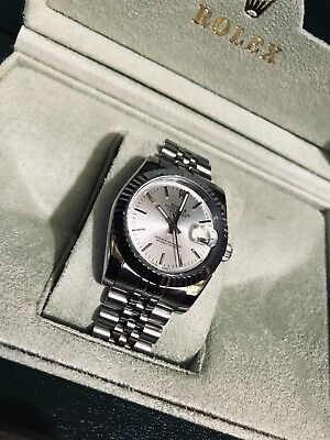 Rolex DATEJUST 116234 Mens Steel - White Gold Jubilee 36MM Silver Index Dial