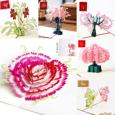 3D Pop up Cards Vintage Theme Greeting Cards Thanksgiving Mothers Day Gift New