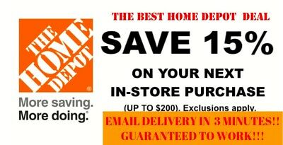 ONE X1 15 OFF Home Depot Coupon -Instore ONLY Save up to 200 - Fast Shipment