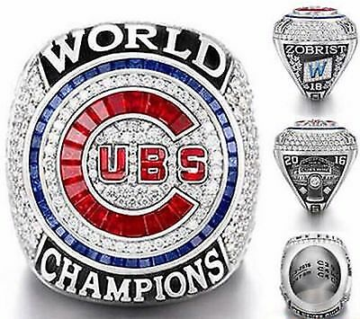 2016 Chicago Cubs World Series Championship Ring S8-14 Zobrist Bryant Rizzo Baez
