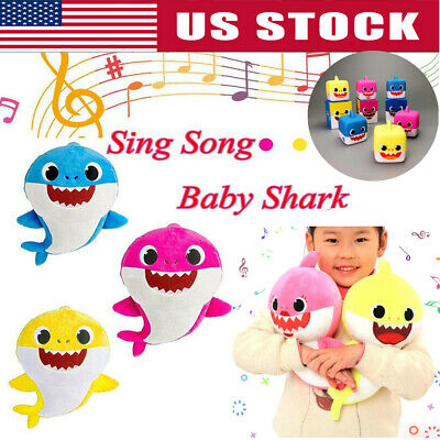 Cartoon PinkFong Plush Fox Sharks Dolls Children Baby Animal Kids Baby Gift Toys
