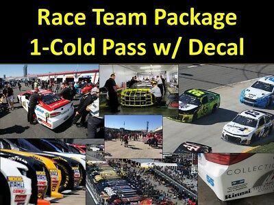 Las Vegas- NASCAR Team Package- Cold Garage Pits Decal - more