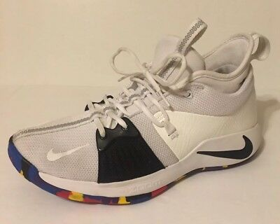 NIKE PG 2 March Madness Paul George NCAA White  Size 10 Basketball Shoes