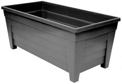 Extra Large 55cm Long Garden Planter Plant Pot Plastic Trough Raised Planter