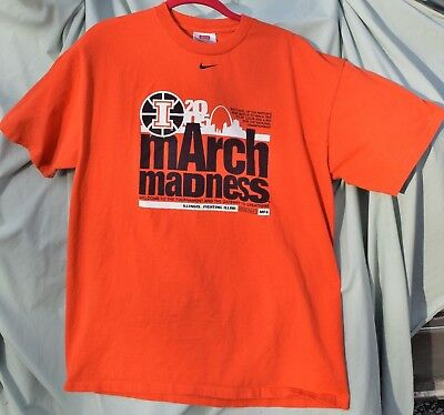 Nike March Madness T Shirt 2005 Fighting Illini National Champions St- Louis L