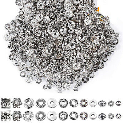 50100X Tibetan Silver Metal Charms Loose Spacer Beads Wholesale Jewelry Making