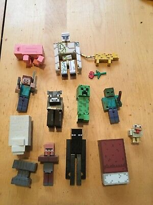 Minecraft Figures Lot PreOwned Some Rare