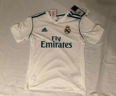 Adidas Real Madrid Official Kids Home Soccer Jersey 201718 1718 B31111
