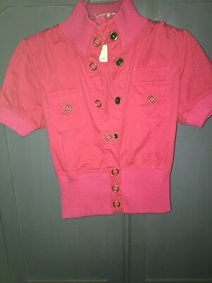 Forever 21 Size Large Hot Pink Shirt