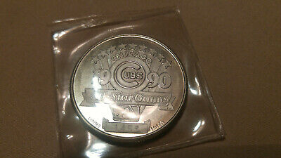 1990 Chicago Cubs Major League Baseball All-Star Game -999- SIlver Coin 1456