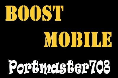 Boost Mobile Prepaid Number For Port  Leave Message to Seller desired Zip Code