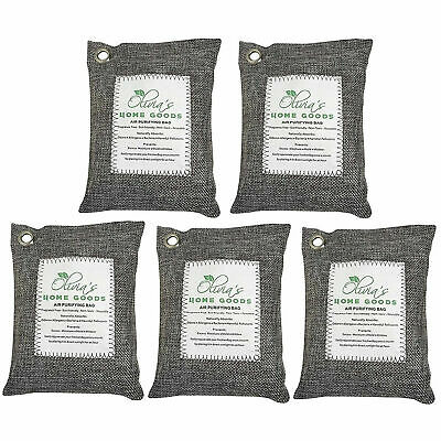 Air Purifying Bag 5 Pack Nature Fresh Style Charcoal Bamboo Purifier Mold Odor