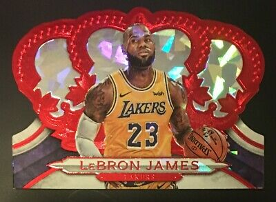 2018-19 Crown Royale Los Angeles Lakers Lebron James Cracked Ice 3049