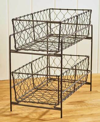 2-Tier Country Storage Baskets -