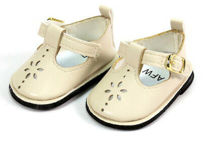 Cream T-Strap Shoes for Bitty Baby Doll Clothes Sew Beautiful