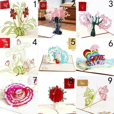 3D Pop up Cards Vintage Theme Greeting Cards Thanksgiving Mothers Day Gift Hot
