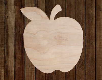 APPLE Teacher Unfinished Wood Cutout Cut Out Shapes Painting Crafts ALL SIZES