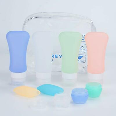 9 Pcs Travel Bottles Set TSA Approved Containers Silicone Travel Accessories