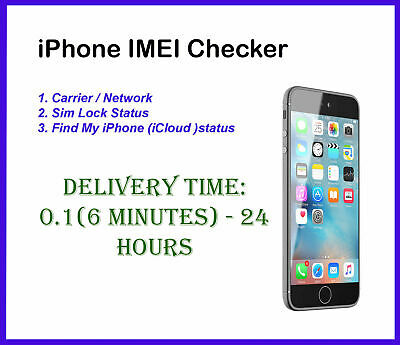 Fast iPhone IMEI Checker Carrier  - Network Check Sim Lock Status Find My iPhone