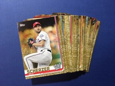 2019 Topps Baseball Series 1 Serial Numbered GOLD Parallel - YOU PICK  FREE SHIP