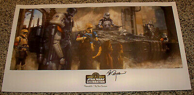 Star Wars Celebration Chicago Meanwhile VIP Exclusive Art Print by Dave Dorman