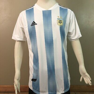 Adidas 2018 World Cup Argentina Jersey Mens Sz XL FIFA Russia 2018 Patches