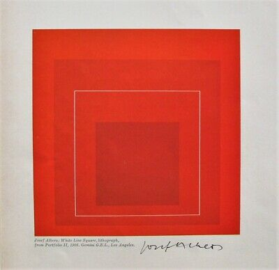 JOSEF ALBERS - Signed Autographed Square Art Illustration