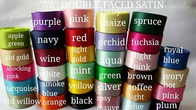 WHOLESALE DOUBLE FACED SATIN 78 wide 5 yards you pick color wholesale ribbon