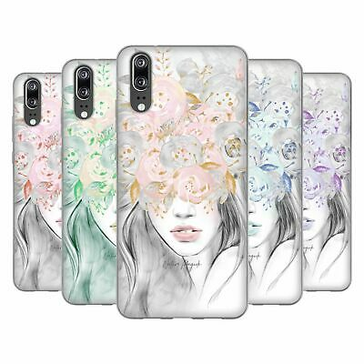 OFFICIAL NATURE MAGICK GIRL WITH FLOWERS IN HER HAIR GEL CASE FOR HUAWEI PHONES