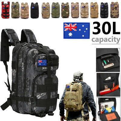 30L Camping Hiking Bag Army Military Tactical Backpacks Rucksacks Sport travel