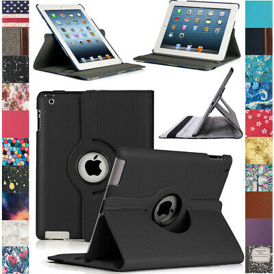 For Apple iPad 2  3  4th Gen with Retina Display 360 Rotating Case Cover Stand