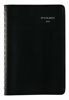 AT-A-GLANCE DayMinder Daily Planner 5-12 x 8-12 Black 2020 SK440020