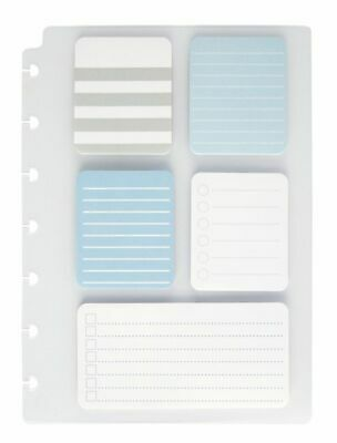 TUL Custom Note-Taking System Discbound Sticky Note Pads Assorted 5-Pack