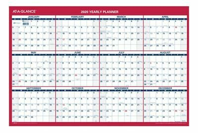AT-A-GLANCE Reversible Yearly Wall Calendar 24 x 36 Red 2020 PM2122820