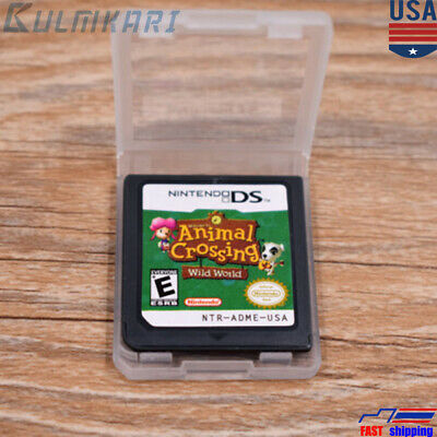 Animal Crossing Wild World Nintendo DS Game Card  for DS  DSi  3DS XL US VER