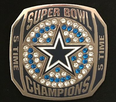 Dallas Cowboys 5 Time Super Bowl Champions Large Rhinestone Limited Edition Pin