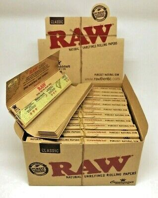 Authentic Raw Classic Connoisseur King Size Rolling Papers WTips USA Shipper