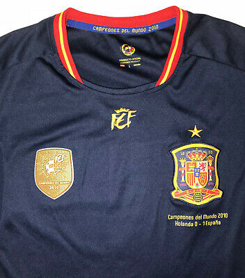 VINTAGE SPAIN NATIONAL TEAM SOCCER JERSEY SIZE LARGE MENS WORLD CUP 2010