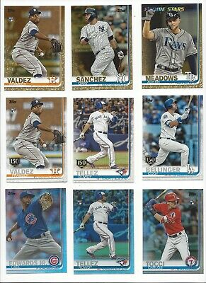 2019 TOPPS SERIES 2 BASE PARALLELs  - 150th RAINBOW FOIL GOLD 2019 -U PICK