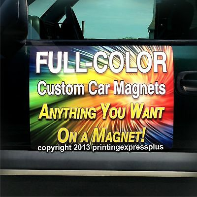 2 - 18x24 Custom Car Magnets Magnetic Auto Truck Signs - Free Design Included