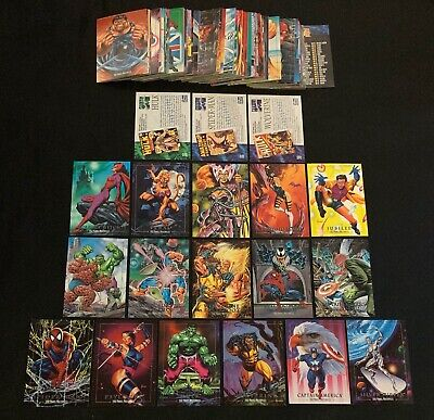 1992 MARVEL MASTERPIECES PROMOS  BATTLE SPECTRA  LOST CARDS SINGLES YOU CHOOSE