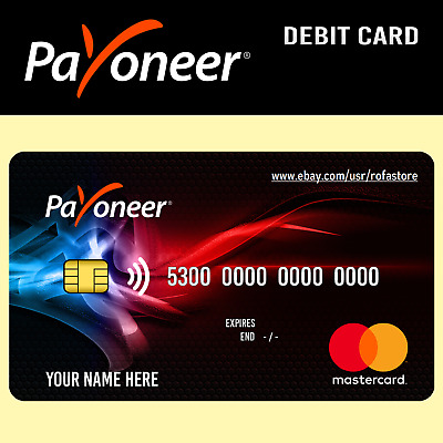 Payoneer Account and Prepaid Debit Mastercard with your Name
