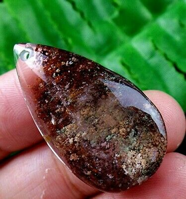 16x30x7mm brown Phantom Quartz teardrop   pendant bead R8505
