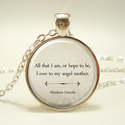Inspirational Quote Necklace Gift for Mom Christmas Gift Mothers Day Gift
