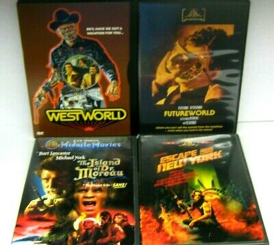 SCI-FI DVD MOVIE LOT WESTWORLD FUTUREWORLD ESCAPE FROM NY DR- MOREAU 1-OWNER