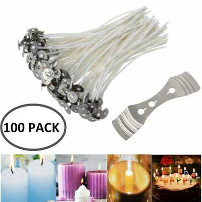 100PCS Candle Wicks 6 Candle Cotton Core Candle Making Supplies Kits Ship NEW