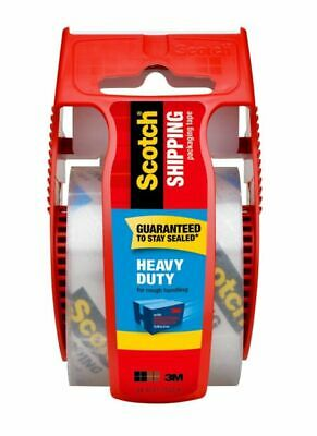 Scotch® Heavy-Duty Shipping Tape With Dispenser 1-78 x 22-2 Yd- Clear