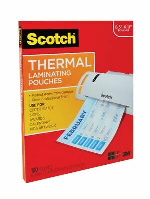 Scotch® Thermal Laminating Pouches 8-78 x 11-38 Clear Pack Of 100 Pouches