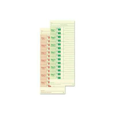 Lathem Time Cards Weekly 2-Sided 3 38 x 9 Box Of 100