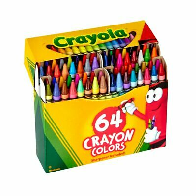 Crayola® Standard Crayon Set With Built-In Sharpener Assorted Colors Box Of 64